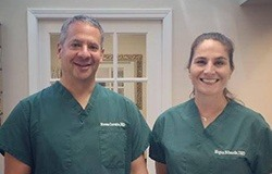 Dr. Crovatto and Dr. Edwards