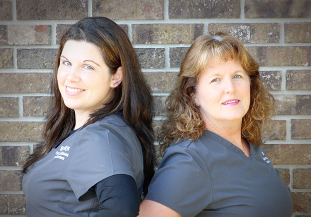 Dr. Crovatto's dental assistants Shannon and Donna