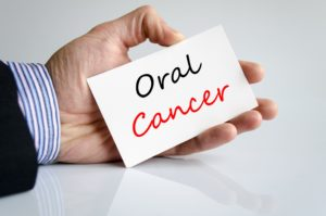 oral cancer on card