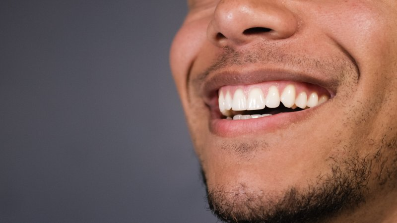 Man after cosmetic dentistry